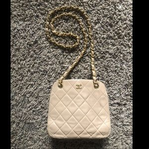 Chanel mini wallet on chain with clasp mini bag